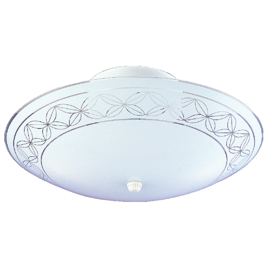 Picture of Boston Harbor F98WH02-1204H3L Ceiling Light Fixture, 2-Lamp, CFL Lamp, White Fixture