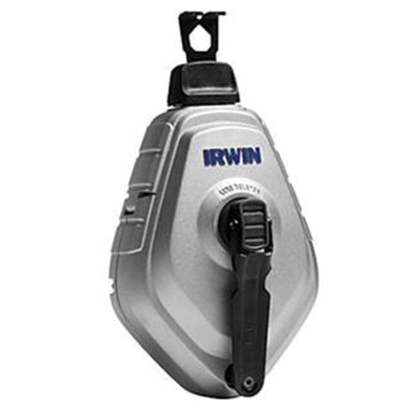 Picture of IRWIN STRAIT-LINE MACH6 1932890 Chalk Reel and Chalk Combo, 100 ft L Line, Black/White Line, 6:1 Gear Ratio