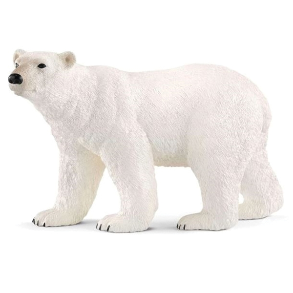 Picture of Schleich-S 14800 Polar Bear Figurine, 3 to 8 years, Polar Bear, Plastic