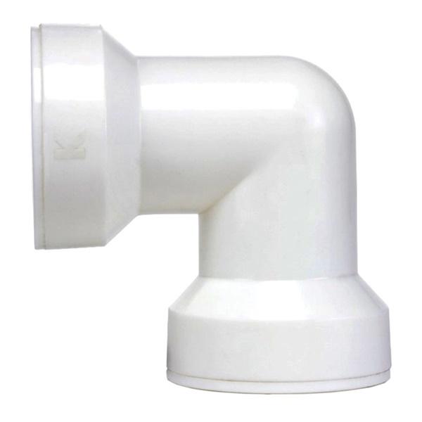 Picture of Plumb Pak Insta-Plumb 47QLK Coupling Elbow, Plastic, White, 5, Bag