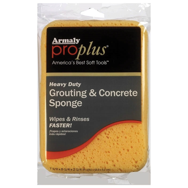 Picture of Armaly ProPlus 603 Grouting and Concrete Sponge, 7-1/2 in L, 5-1/4 in W, 2-1/4 in Thick, Polyester