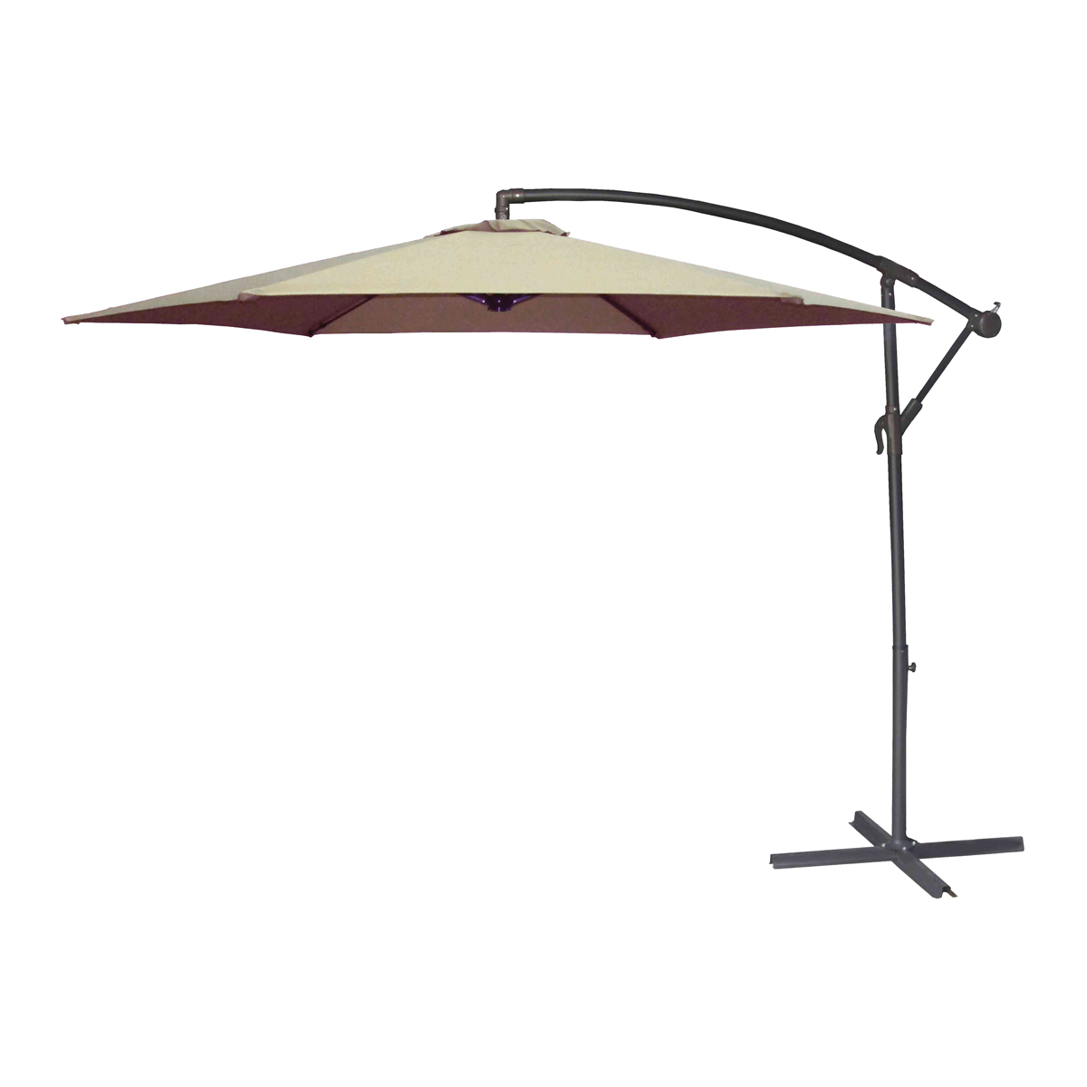 Picture of Seasonal Trends UMSC10BKOBD-04 Solar Offset Taupe Umbrella, 98.42 in OAH, 10 ft W Canopy, 10 ft L Canopy