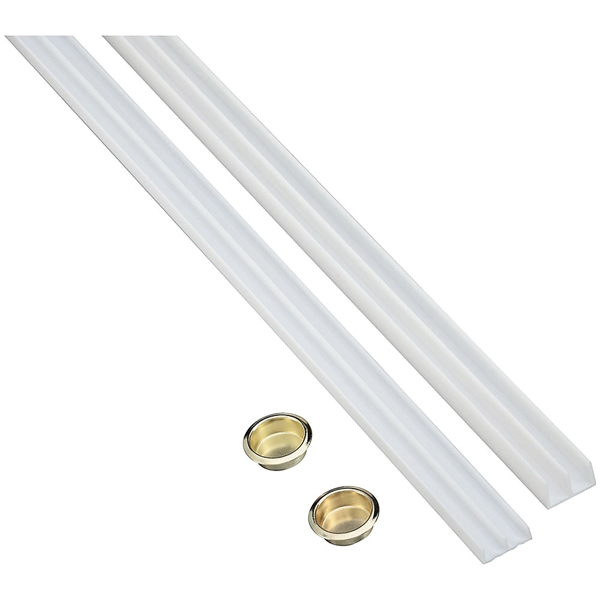 Picture of National Hardware N403-200 Door Track, Plastic, 1/4 in W, 6 in L