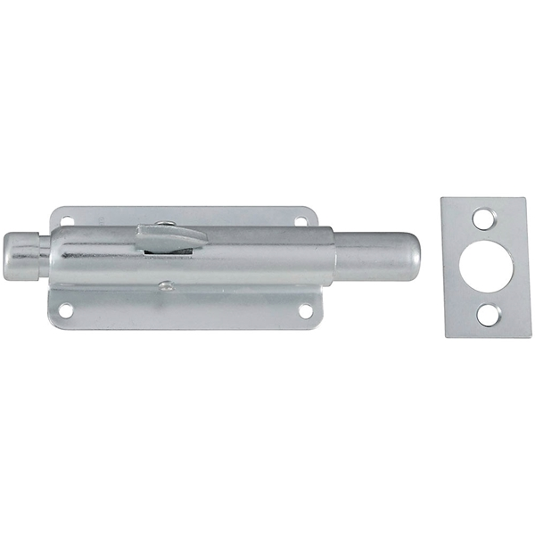 Picture of National Hardware N236-338 Foot Bolt, 4-31/32 in L Bolt, Steel, Zinc