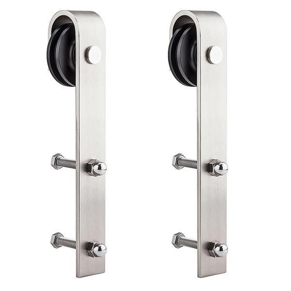 Picture of National Hardware N187-072 Strap Hanger, Sliding Door, Steel, Satin Nickel, 1, Box