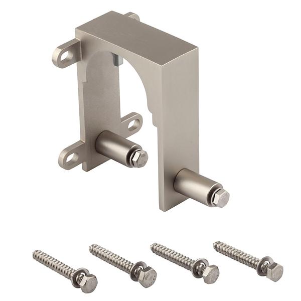 Picture of National Hardware N187-102 Bypass Bracket, Sliding Door, Steel, Satin Nickel, 2, Box