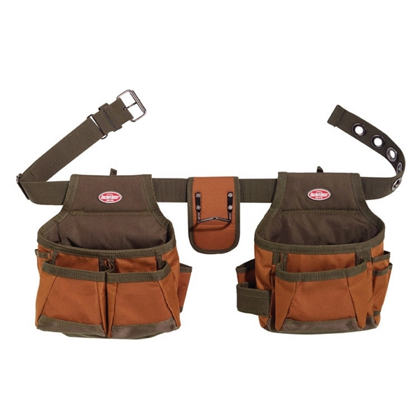 Picture of Bucket Boss 50200 Builder's Rig, 52 in Waist, Poly Ripstop Fabric, Brown/Green, 12 -Pocket