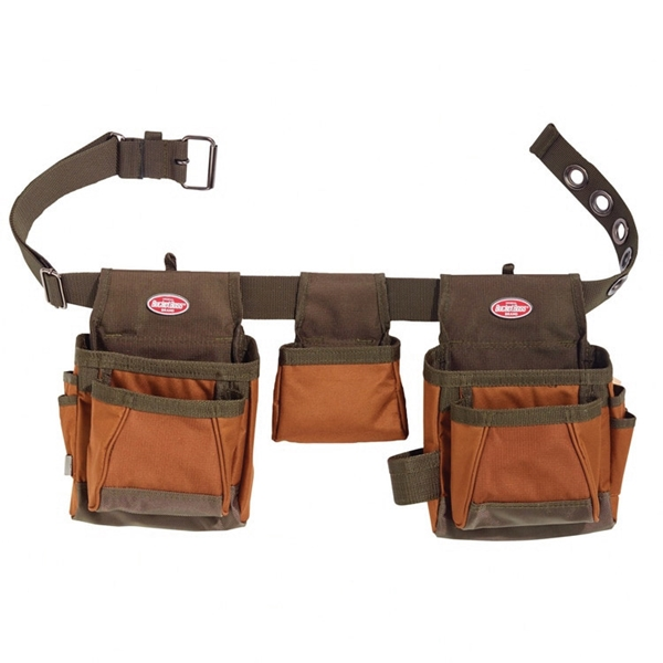Picture of Bucket Boss 50250 Handyman's Rig, 52 in Waist, Poly Ripstop Fabric, Brown/Green, 11 -Pocket