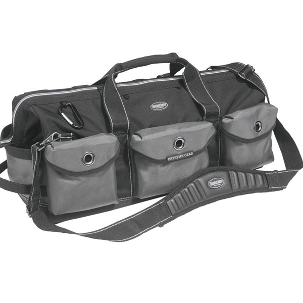 Picture of Bucket Boss Professional 65024 Extreme Big Daddy Tool Bag, 26 in W, 11 in D, 12 in H, 28 -Pocket, Poly Fabric