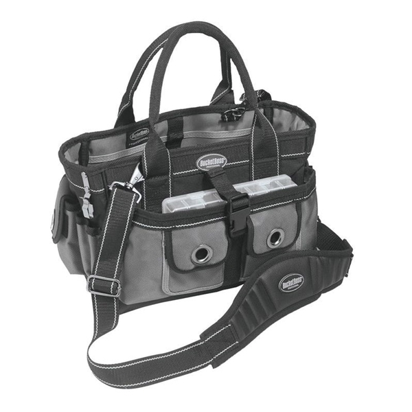 Picture of Bucket Boss Professional 65088 Extreme Hopalong Tool Tote, 14 in W, 9 in D, 9 in H, 14 -Pocket, Poly Fabric