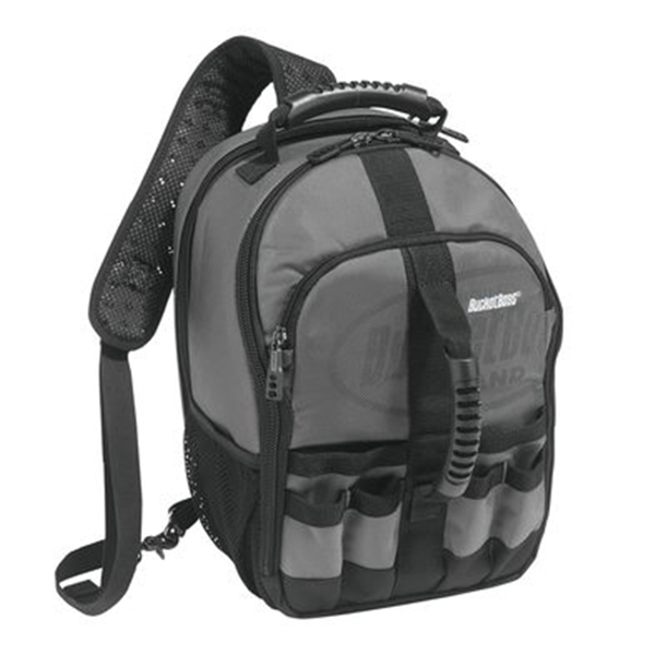 Picture of Bucket Boss Professional 65160 Sling Pack Tool Bag, 10-1/2 in W, 8 in D, 15 in H, 24 -Pocket, Poly Fabric