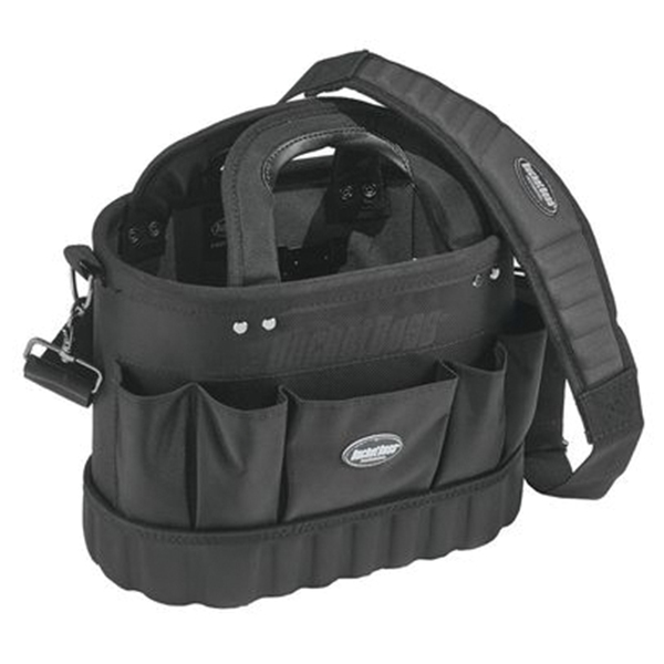 Picture of Bucket Boss Professional 74014 Pro Oval Tool Tote, 14 in W, 8 in D, 10 in H, 13 -Pocket, Poly Fabric