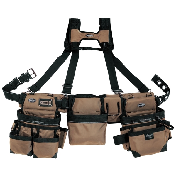 Picture of Bucket Boss 55185-TN Framer's Rig, 52 in Waist, Poly Fabric, Tan, 29 -Pocket