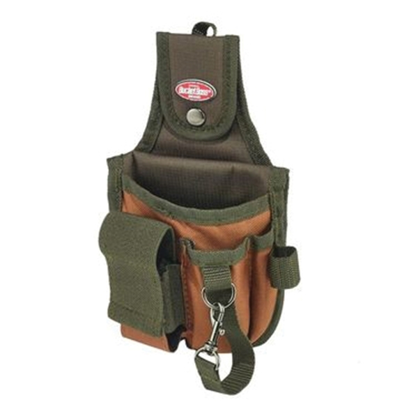 Picture of Bucket Boss 54120 Rear Guard Pouch, 5 -Pocket, Poly Ripstop Fabric, Brown/Green, 6 in W, 10 in H, 1-1/2 in D