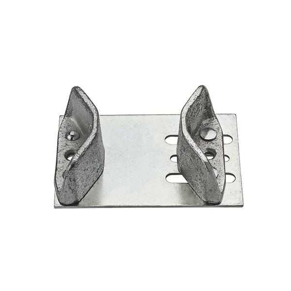 Picture of National Hardware N101-048 Door Guide, Steel, Zinc, Floor Mounting