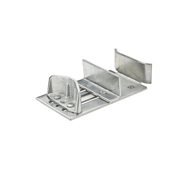 Picture of National Hardware N101-063 Double Door Guide, Steel, Zinc, Floor Mounting