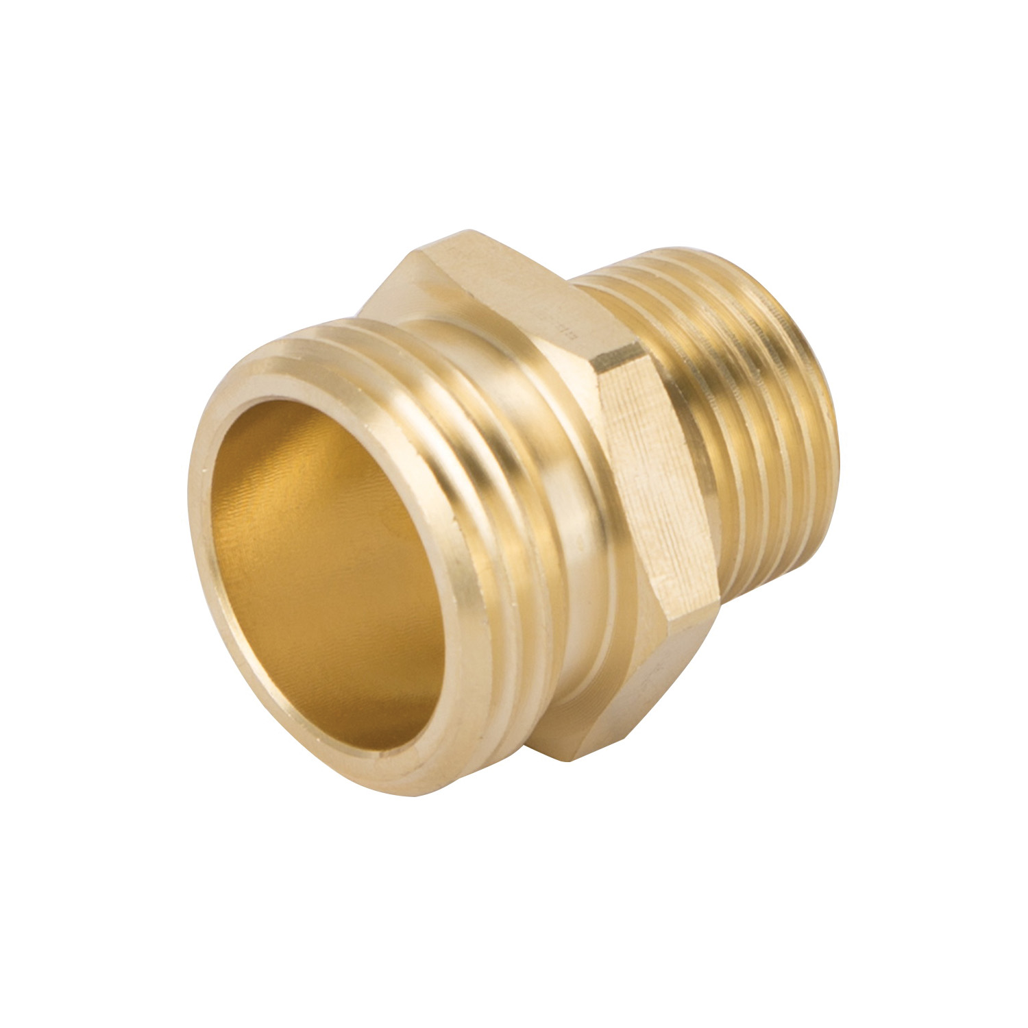 Picture of Landscapers Select GHADTRS-2 Hose Connector, 1/2 x 3/4 in, MNPT x MNH, Brass, Brass