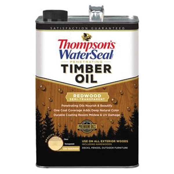 Picture of Thompson's WaterSeal TH.048821-16 Penetrating Timber Oil, Redwood, Liquid, 1 gal, Can