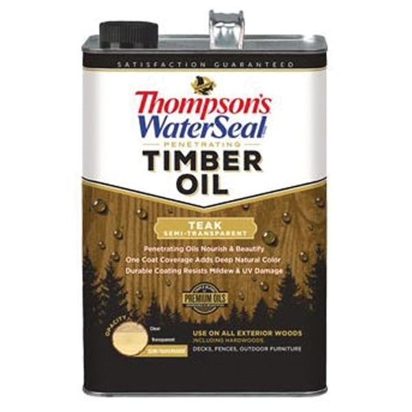 Picture of Thompson's WaterSeal TH.048831-16 Penetrating Timber Oil, Teak, Liquid, 1 gal, Can
