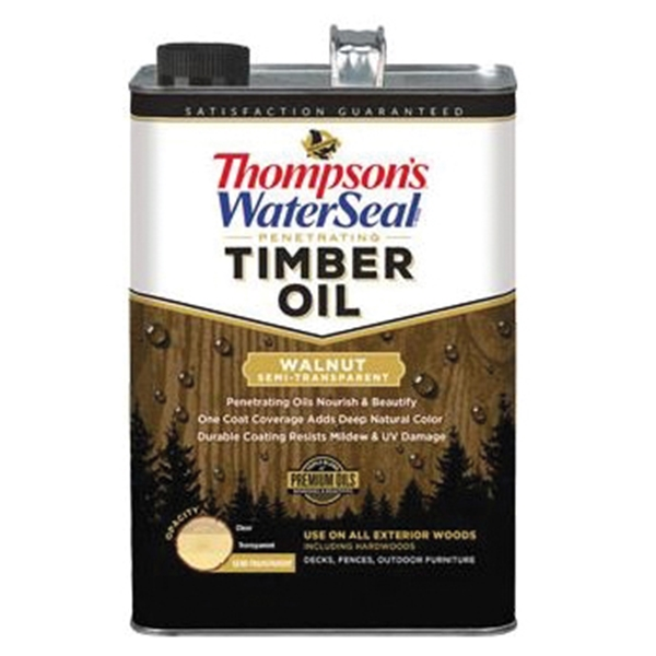 Picture of Thompson's WaterSeal TH.048841-16 Penetrating Timber Oil, Walnut, Liquid, 1 gal, Can