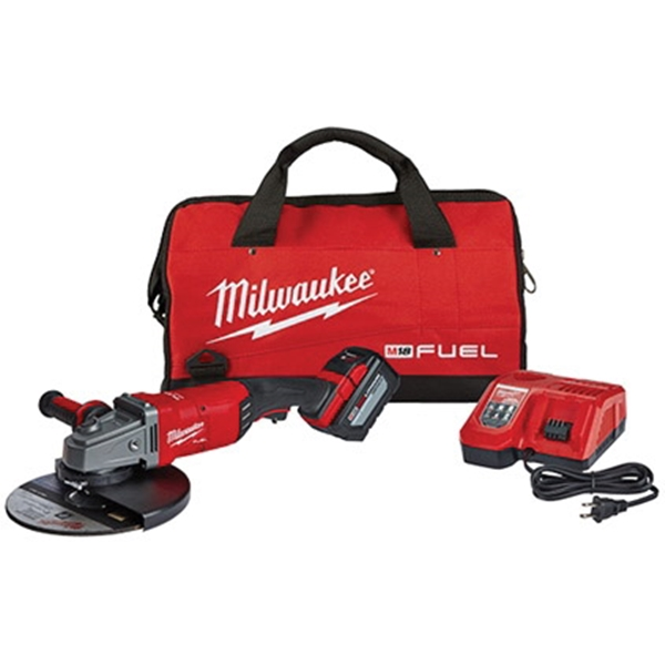 Picture of Milwaukee 2785-21HD Angle Grinder Kit, 18 V, 15 A, 5/8-11 Spindle, 7, 9 in Dia Wheel, 6600 rpm Speed