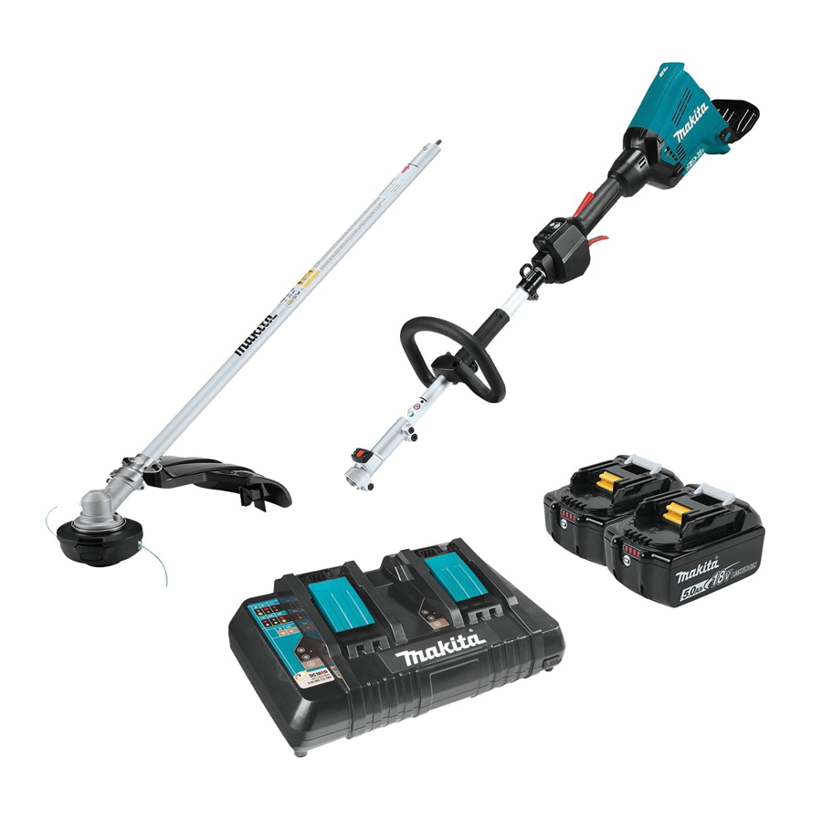 Picture of Makita LXT XUX01M5PT Power Head Kit, 5 Ah, 36 V Battery, Lithium-Ion Battery, 3 -Speed, 0.095 in Dia Line