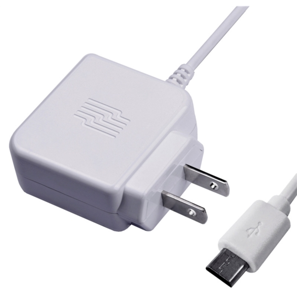 Picture of Zenith PM1001WCMC Wall Charger, 2.4 V Output, 3 ft L Cord, White