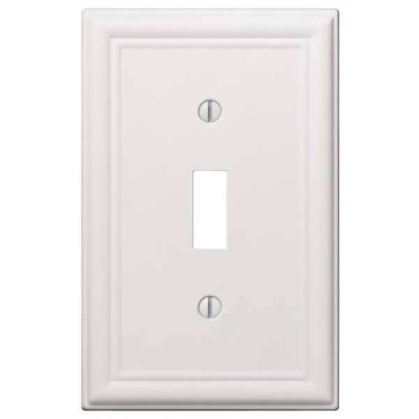 Picture of Amerelle 149TW Wallplate, 4-7/8 in L, 3-1/8 in W, 1-Gang, Steel, White