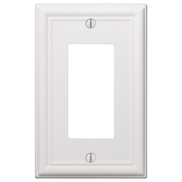 Picture of Amerelle 149RW Wallplate, 4-7/8 in L, 3-1/8 in W, 1-Gang, Steel, White