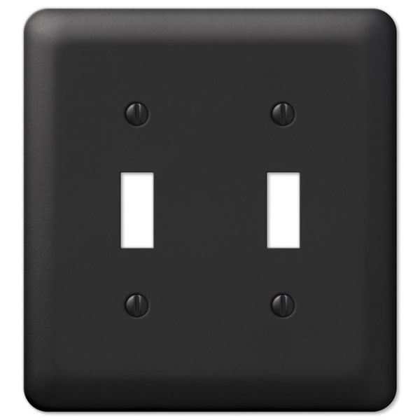 Picture of Amerelle Devon 935TTBK Wallplate, 5 in L, 4-5/8 in W, 2-Gang, Steel, Black
