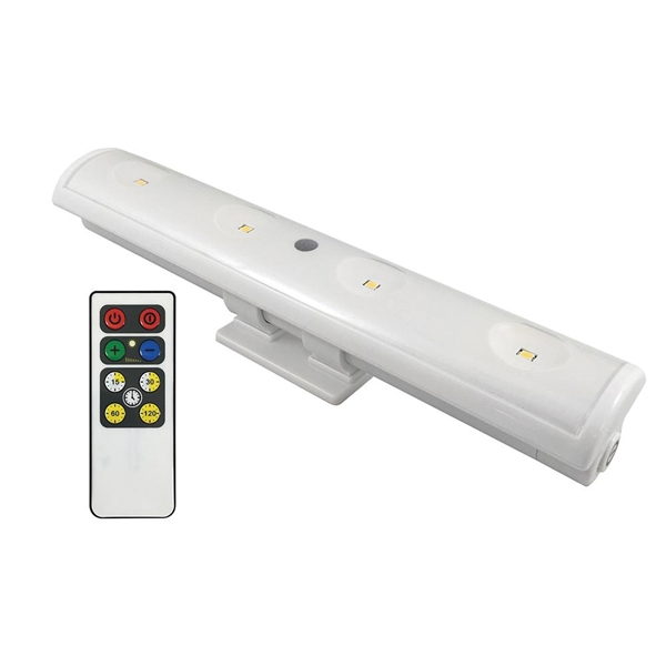 Picture of AmerTac LW1205W-N1 Clamp Light, Battery, LED Lamp, White