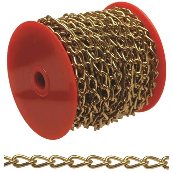 Picture of BARON 7170 Twist Link Chain, #70 Trade, 82 ft L, Brass