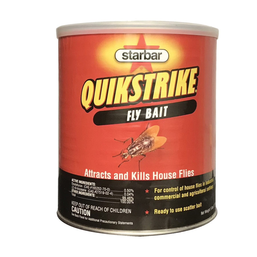 Picture of Starbar QuikStrike 100508298 Fly Bait, Granular, Fish, 5 lb Package, Can