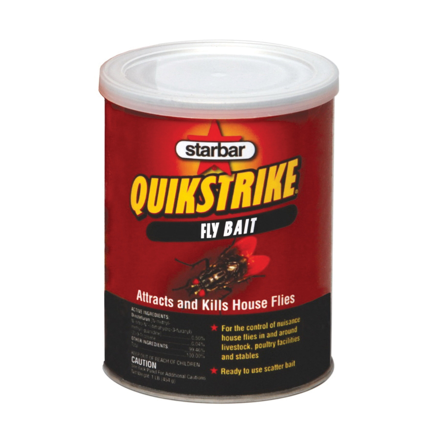 Picture of Starbar QuikStrike 100508299 Fly Bait, Granular, Fish, 1 lb Package, Can