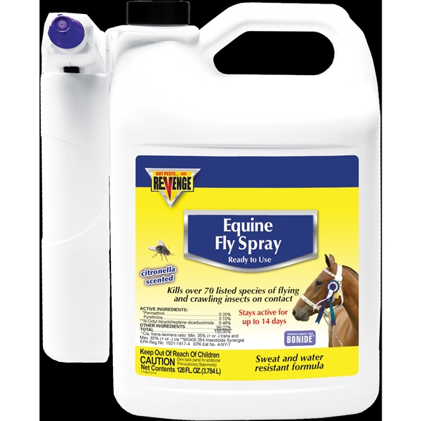 Picture of Bonide 46183 Equine Fly Spray, Liquid, Light Yellow/White, 1 gal Package