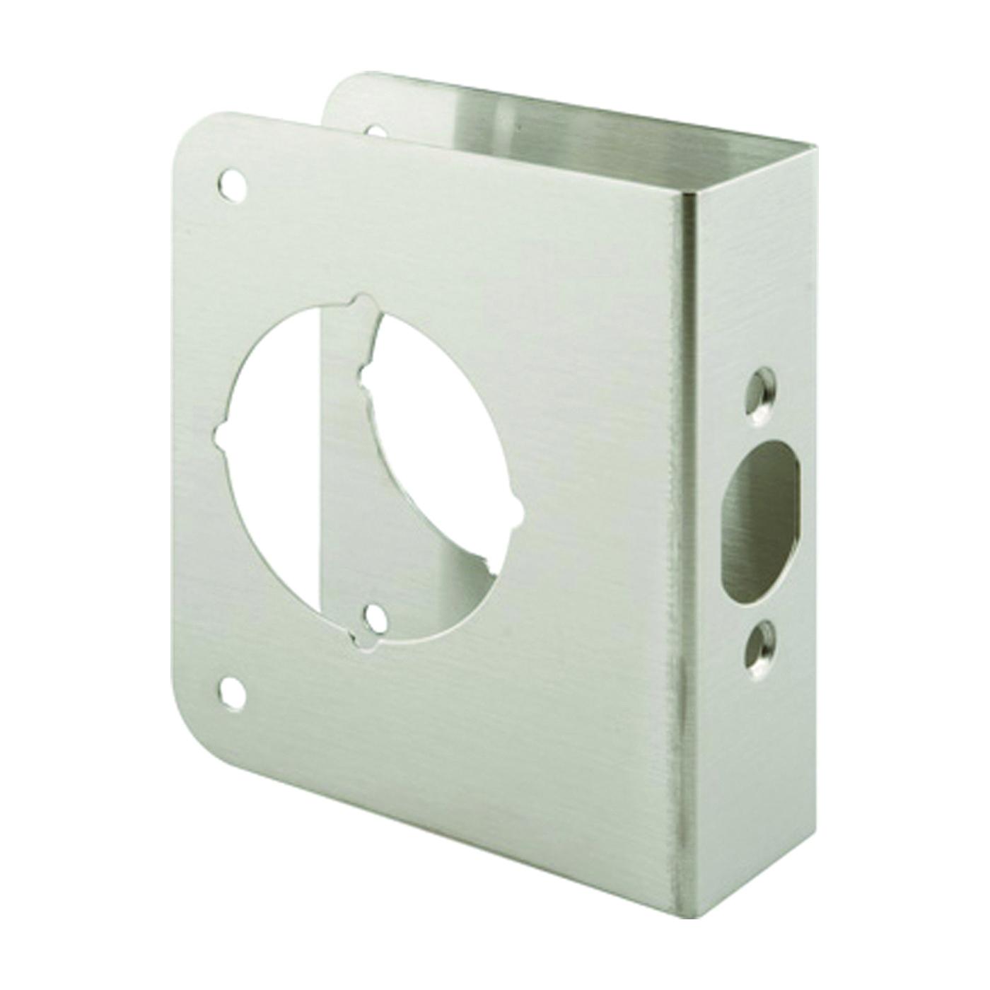 Picture of Prime-Line U 9590 Lock and Door Reinforcer, 2-3/8 in Backset, 1-3/4 in Thick Door, Stainless Steel, Stainless Steel