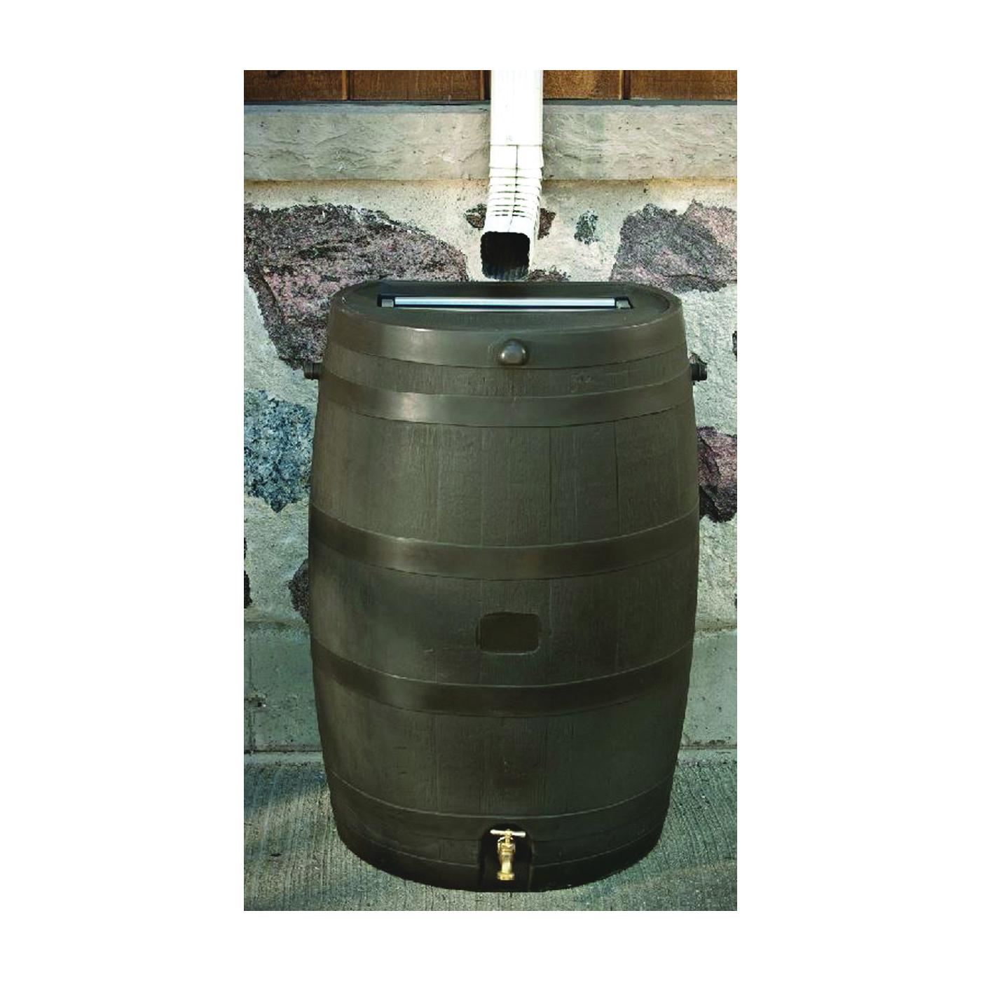 Picture of RTS 55100009005600 Rain Barrel, 50 gal Capacity, Wood, Brown