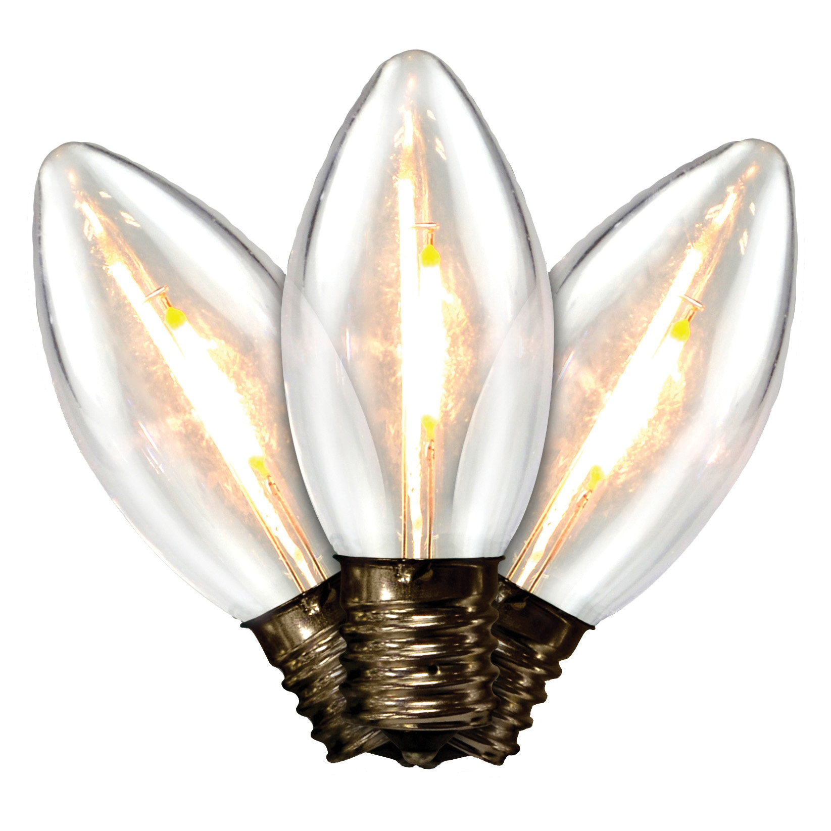 Picture of Holiday Bright Lights BU25FLDSC9-TWW Light Bulb, .6 W, Intermediate (E17) Lamp Base, LED Lamp, Warm White Light