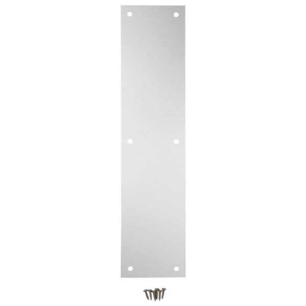 Picture of National Hardware N270-504 Push Plate, Nickel, Satin, 15 in L, 3-1/2 in W