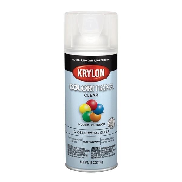 Picture of Krylon COLORmaxx K05515007 Spray Paint, Gloss, Clear, 11 oz, Aerosol Can