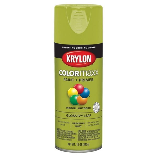 Picture of Krylon COLORmaxx K05525007 Spray Paint, Gloss, Ivy Leaf