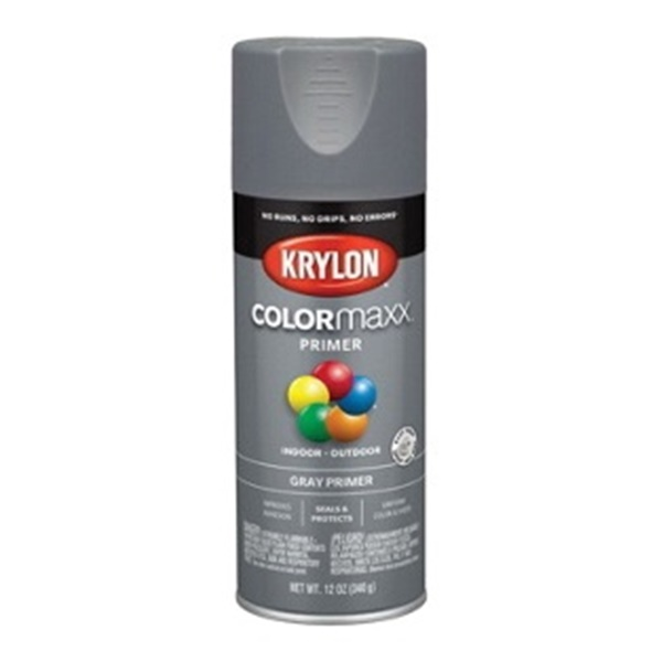 Picture of Krylon COLORmaxx K05582007 Primer, Gray, 12 oz