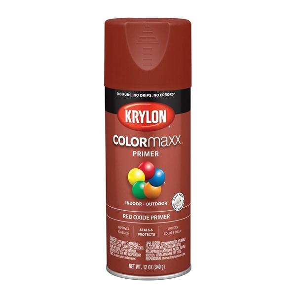 Picture of Krylon COLORmaxx K05583007 Primer, Red, 12 oz