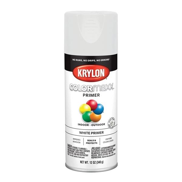 Picture of Krylon COLORmaxx K05584007 Primer, White, 12 oz