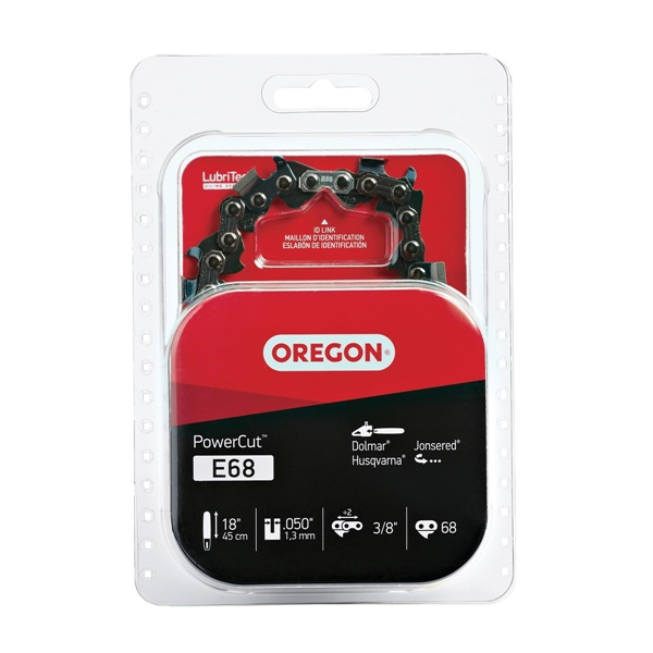 Picture of Oregon PowerCut E68 Saw Chain, 18 in L Bar, 0.05 Gauge, 3/8 in TPI/Pitch, 68 -Link