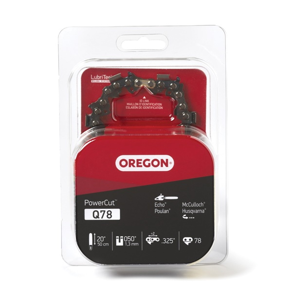 Picture of Oregon PowerCut Q78 Saw Chain, 20 in L Bar, 0.05 Gauge, 0.325 in TPI/Pitch, 78 -Link