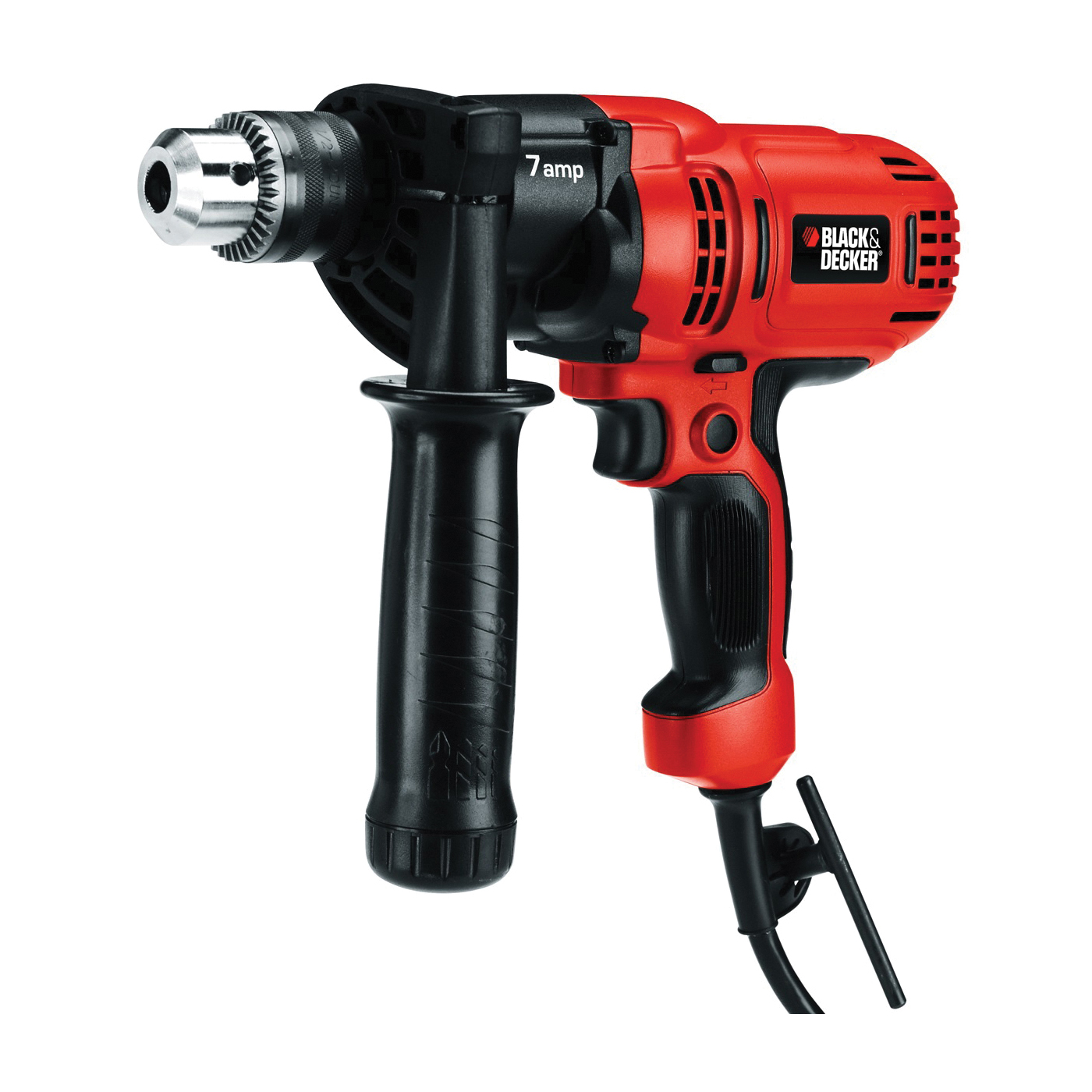Picture of Black+Decker DR560 Drill/Driver, 1/2 in Steel, 1-1/2 in Wood Drilling, 1/2 in Chuck, Keyed Chuck