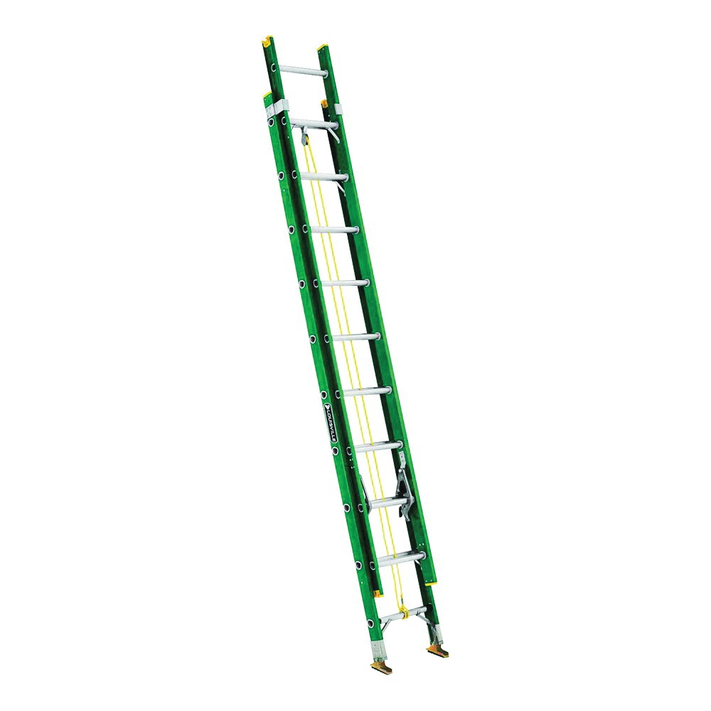 Picture of Louisville FE0616 Extension Ladder, 225 lb, Fiberglass, Green
