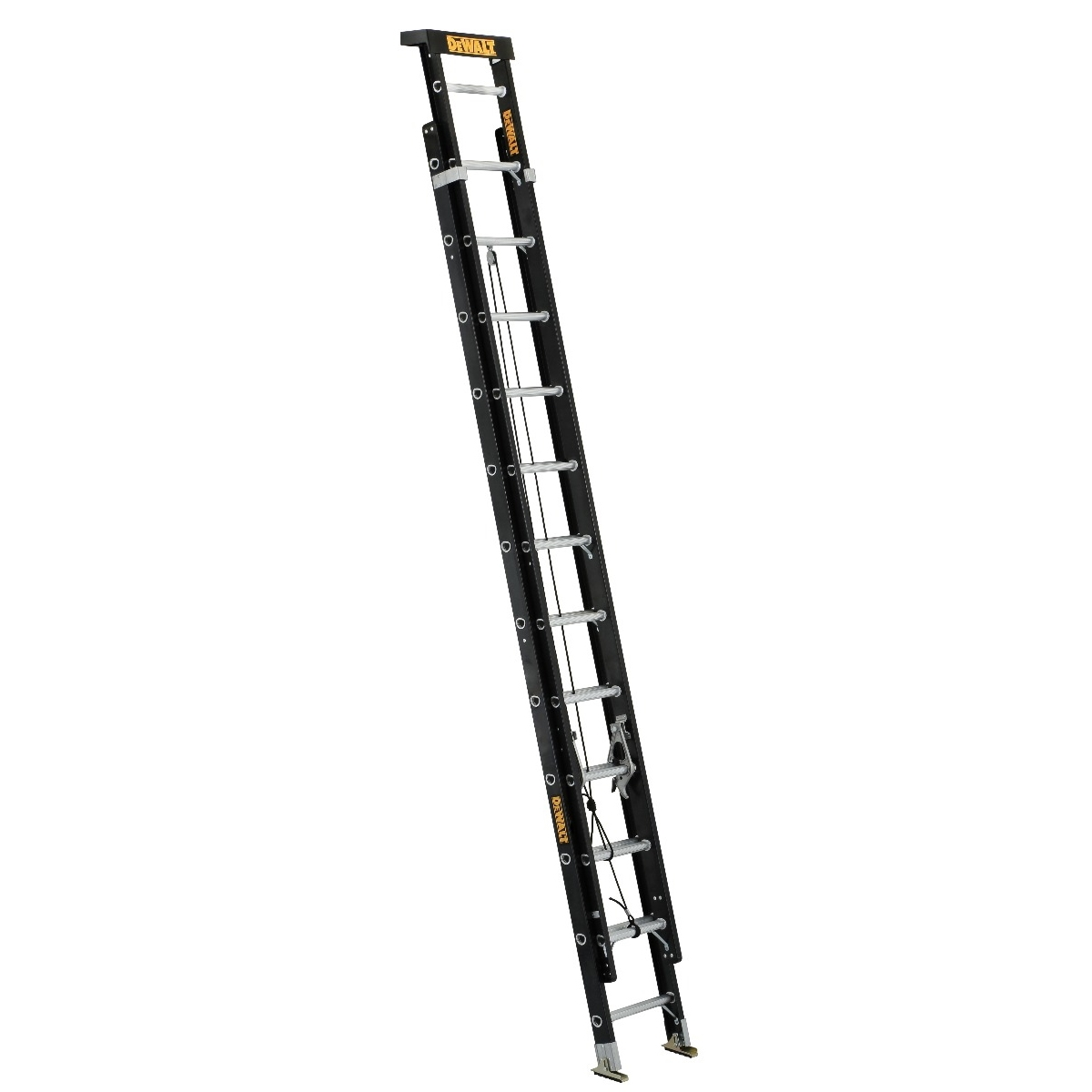 Picture of DeWALT DXL3020-28PT Extension Ladder, 329 in H Reach, 300 lb, 1-1/2 in D Step, Fiberglass