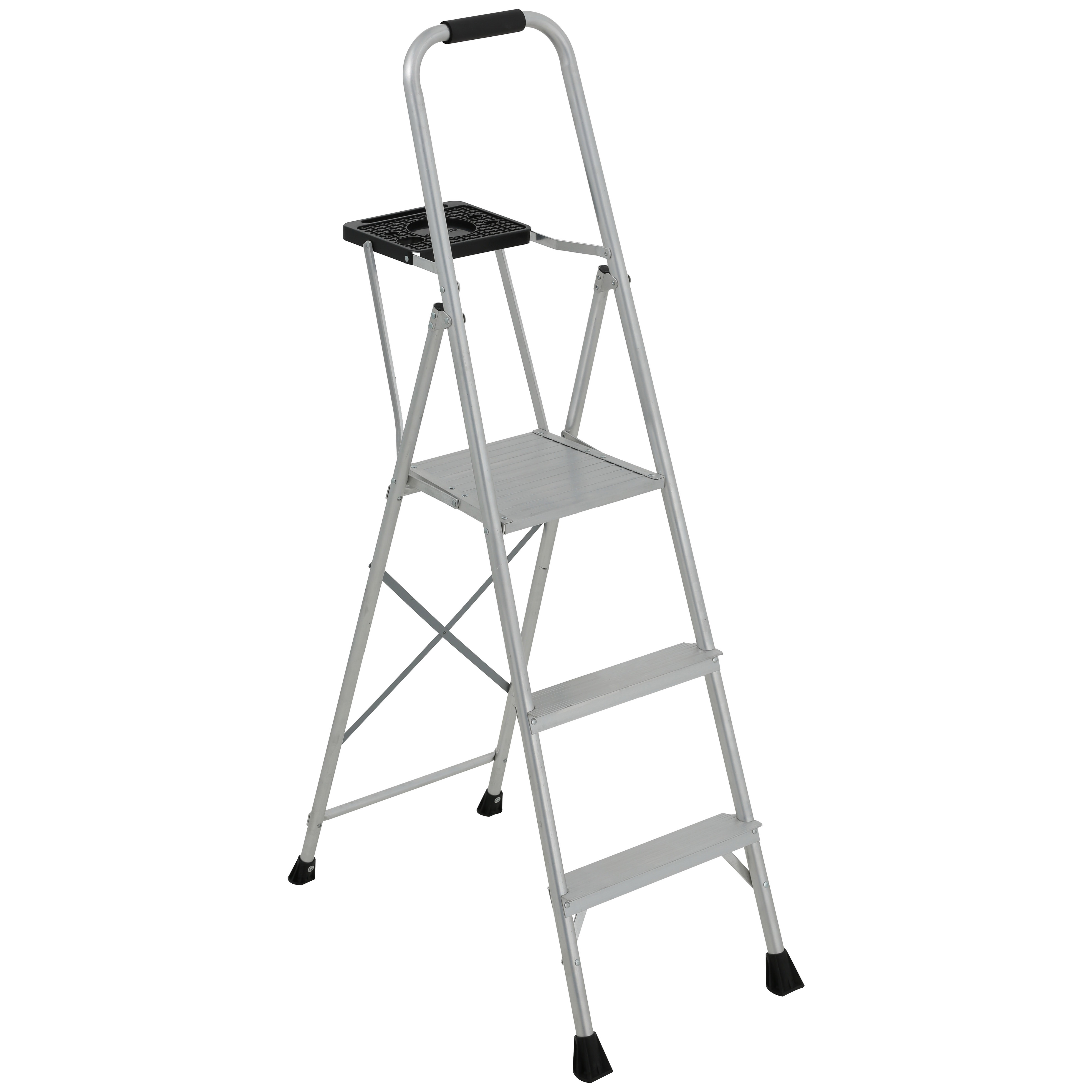 Picture of Louisville AP8005 Platform Step Ladder, 34 in Max Standing H, 200 lb, Type III Duty Rating, 5-Rung, 3 in D Step